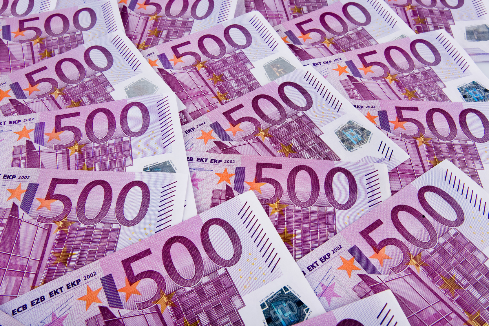 Eurogeldscheine - 500 Euroscheine