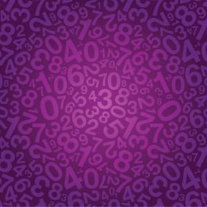 purple number background